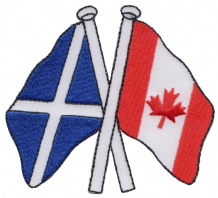 Scotland & Canada Friendship Embroidered Patch A183